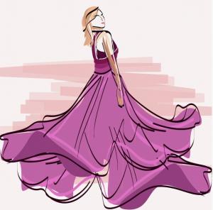 ロングドレス画像